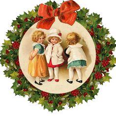 Christmas 2018 Ideas, Christmas Scenes, Christmas Mood, Christmas Pictures, Kids Christmas, Christmas Crafts, Christmas Decorations, Art Vintage, Decoupage Vintage