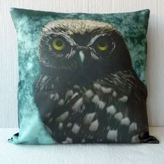Little Owl  pillow case in 16x16 inch for throw pillow or accent pillow 40$