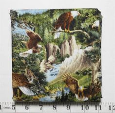 Pond Bridge, Pheasant Run, Field Spaniel, Climbing Vines, Small Birds, Party Shirts, Red Background, Fabric Panels, Bald Eagle