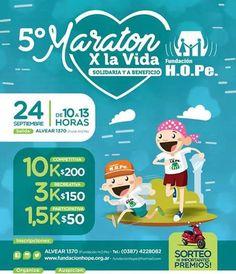 24 Sept // 10 hs  Maratón x la Vida // Fundación H.O.Pe  #Salta #Agenda #Evento #Prensa #Noticia #Medios #Deporte #Turismo #Cultura #GobiernoDeSalta #SaltaTuCiudad #SaltaTanLindaQueEnamora #GobiernoDeLaProvinciaDeSalta #Argentina #QueHacemosSalta #QHS #Familia #Amigos #Love #Maraton #Solidaridad #Beneficios Toda la info que necesitas la podes encontrar aquí  http://quehacemossalta.com/