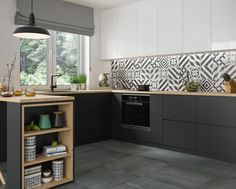 Lowes can help you come up with new kitchen tile ideas that will make your space look brand new. Kitchen Chairs, Kitchen Flooring, Kitchen Furniture, Kitchen Decor, Kitchen Cabinets, Wood Furniture, Kitchen Wall Tiles Design, Modern Kitchen Design, House Tiles