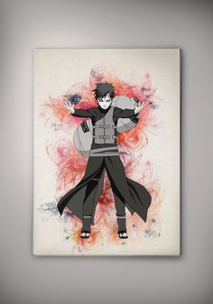 Gaara Kazekage Naruto Shippuuden Anime Manga Watercolor Print Poster  No218 by EpicShoppe on Etsy