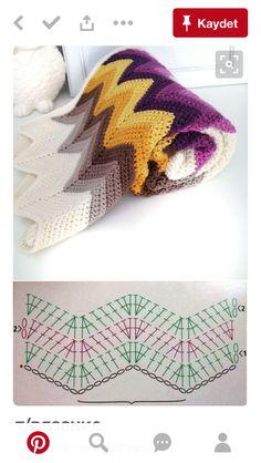 Mantas crochet con patrones Mantas crochet con patrones Learn the fact (generic term) of how to need Crochet Ripple, Crochet Motifs, Crochet Diagram, Crochet Chart, Crochet Blanket Patterns, Diy Crochet, Knitting Patterns, Knitting Yarn, Crochet Ideas