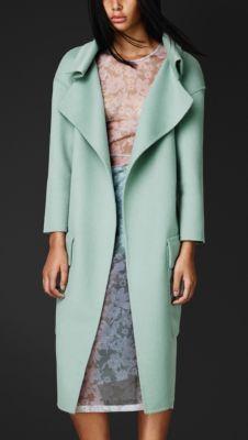 Burberry Prorsum Double Angora and Wool Shell Coat