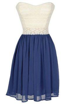 Very pretty white and blue dress