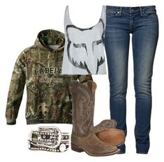 """""""Tomorrow: Kennywood!"""" by backwoods-princess ❤ liked on Polyvore featuring Levi's, Fox and Nocona"""