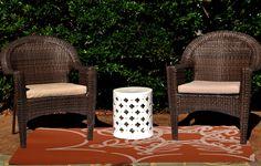 Web Art Holiday Print Orange Outdoor Indoor/Outdoor Area Rug