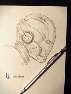 Sketch of iron man Superhero Sketches, Cartoon Sketches, Drawing Sketches, Music Drawings, Cool Art Drawings, Beautiful Drawings, Iron Man Drawing, Avengers Drawings, Concept Art Tutorial