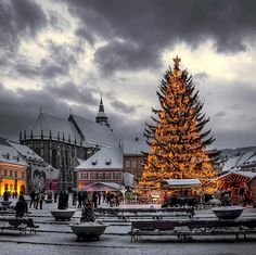 2016 Christmas Holiday in Romania. Book now at special offers this wonderful christmas holiday tour . Christmas Tours in Romania with RomaniaToGo Private Tours. Places Around The World, The Places Youll Go, Places To See, Around The Worlds, Most Beautiful Pictures, Beautiful Places, Brasov Romania, Visit Romania, Winter Christmas