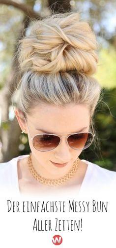 Annie Pearce von @anniesforgetmeknots ist die QUEEN of HAIR und dieser Messy Bun ist ihr Geschenk an alle Frauen, mit wenig Zeit und hohen Frisuren-Ansprüchen. Klickt für die Anleitung! #messybun #anleitung #anniepearce #frisuren #einfachefrisur