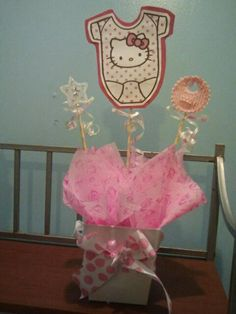 Hello Kitty Baby Shower Centerpiece