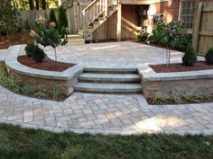 "Outstanding ""patio pavers ideas"" information is offered on our internet site. Read more and you wont be sorry you did. Backyard Patio Designs, Backyard Landscaping, Stone Patio Designs, Raised Patio, Concrete Patio, Retaining Wall Patio, Flagstone Patio, Outdoor Gardens, Pavers Ideas"