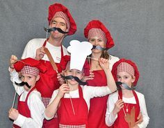 italian themed party photo booth props - Google Search