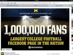 Nothing like a football game played in the Big House! Re-Pin if you agree!  GO BLUE!