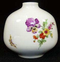 KPM BERLIN - Vase BLUMENVASE Ziervase Kugelvase - Blumen & Insekten - 1. Wahl in Antiquitäten & Kunst, Porzellan & Keramik, Porzellan   eBay