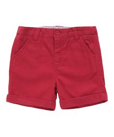 This JoJo Maman Bébé Red Chino Shorts - Infant, Toddler & Boys by JoJo Maman Bébé is perfect! #zulilyfinds