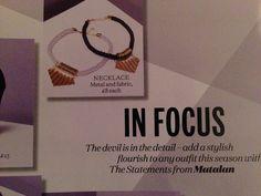 Metal and fabric necklace- matalan