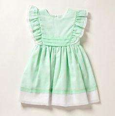 CI Castro Ruffled Shoulder Pinafore Dress with Sash - Girls' Easter Dresses - Events