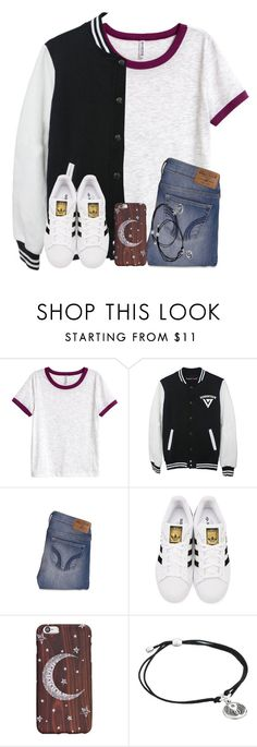 """It Almost Halfway Through The School Yearrr"" by twaayy ❤ liked on Polyvore featuring H&M, LØMO, Hollister Co., adidas Originals and Alex and Ani"