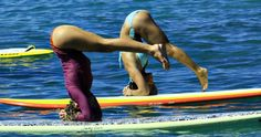 I was already excited for SUP (stand up paddleboarding) but yoga too? Awesome!