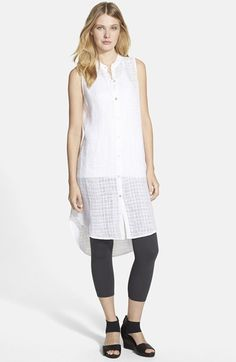 Eileen+Fisher+Mandarin+Collar+Linen+Shirtdress+(Regular+&+Petite)+(Online+Only)+available+at+#Nordstrom