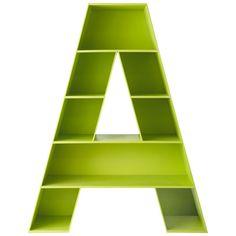 Libreria verde in legno L 130 cm - A