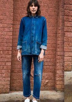 workwear inspired double denim
