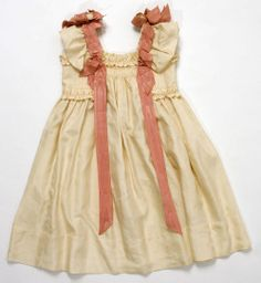 1890s Ribbon trimmed dress or pinafore