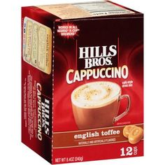 Hills Bros. French English Toffee Cappuccino Single Serve Cups provided for free from #Influenster for the purpose of review. #CozyCapp
