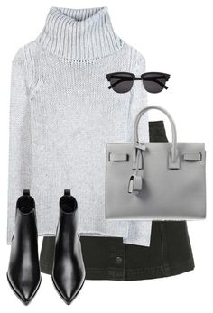 """""""Untitled #9542"""" by alexsrogers ❤ liked on Polyvore featuring Topshop, Helmut Lang, Acne Studios and Yves Saint Laurent"""