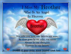 65 Best For my brother in heaven images | Grief, Quotes ...