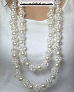 Beaded collar de perlas - Bead Jewelry Making