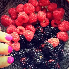 Beautiful pinks  purples in nature show us #healthy #nutrition. Berries are bursting with goodness so enjoy