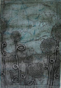 Fine art Collographic print Abstract art by KristaNarcisoArt, $60.00