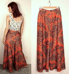 1970s palazzo pants // laser cut paisley by BexVintage on Etsy, $35.00