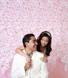 Lace Felt Garland Wedding Backdrop by TheLittleWhiteDress on Etsy, $148.00