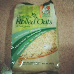 Radiant Organic Rolled Oats from Australia.  Oats are small grain.