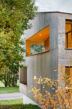 On the edge of a densely built residential area in the Allgäu hills, we created this wooden multi generation house. The adjacent popular recreation and landscape conservation area prompted us to incorporate the surrounding nature into the design. Read more on our website! Photos: © Albrecht I. Schnabel #house #wood #timber #construction #nature #landscape #living #atmosphere #hills #site #architecture #facade Family Houses, Single Family, Conservation, Facade, Home And Family, Popular, Website, Landscape, Architecture