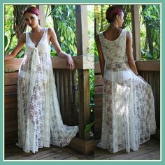 White Long Sleeveless Bohemian V Neck Floral Lace Casual Beach Dress Lounger  AX3539E-107258-25C-711083  Stretchy Material: Polyester/Acetate/Spandex/Microfiber/Lace/Jacquard  Sizes: 2XS - 15 / XS - 15 / S - 15 / M - 15 / L - 15 / XL - 15 / 2XL...