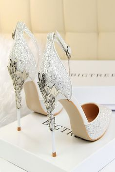 New Party High Heels Women Shoes - bride shoes wedding White High Heel Sandals, High Heels Outfit, Strappy Sandals Heels, Platform High Heels, Black High Heels, Ankle Strap Heels, Sandals Outfit, Shoes Heels, Sandals Platform