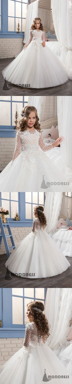 Flower Girl Dresses Princess Pageant First Communion Dresses Kids' Wedding Birthday Ball Gowns,HT028 #flowergirldress#wedding#pageantdress#birthdaypartydress#ballgowns