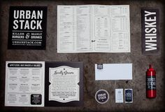 Urban Stack Burger Lounge (side notes: best looking sauce bottle ever)