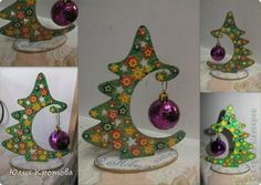 Crafts product Decoupage Pohvastushki New Year and New Year ^ ^ works Plaster Clay Painting Napkins 1 photo Christmas Makes, Diy Christmas Tree, Christmas 2017, Xmas Tree, Christmas Projects, All Things Christmas, Winter Christmas, Christmas Holidays, Christmas Ornaments