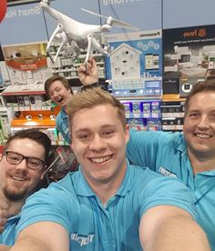 Maplin: Maplin is the UK's largest and most successful retailer of electronics, with 218 stores across the UK and Ireland. The tech team at the company's Mansfield branch took a few team selfies whilst reaching out to customers to #askmaplin in relation to problems they have encountered.