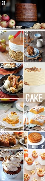 fall dessert recipes. the best time of year for desserts!