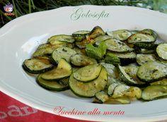 Zucchine alla menta, ricetta estiva