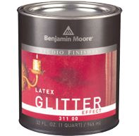$16.99 to $19.99 for a quart can.  ♥This is heaven on earth!  Use over any color for a magical iridescent glow..... for one wall in a room, or all, one coat or two.♥  [original pin: World Paint Supply - Benjamin Moore Studio Finishes Glitter Finish]