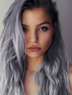 pale blue hair color / I think I should do my hair this color then I wouldn't need to worry about the gray....