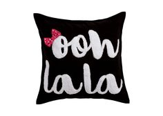 Bow La La Embroidered Pillow, Minnie Mouse Pink, Ethan Allen