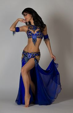Ameera in a royal blue Bella.